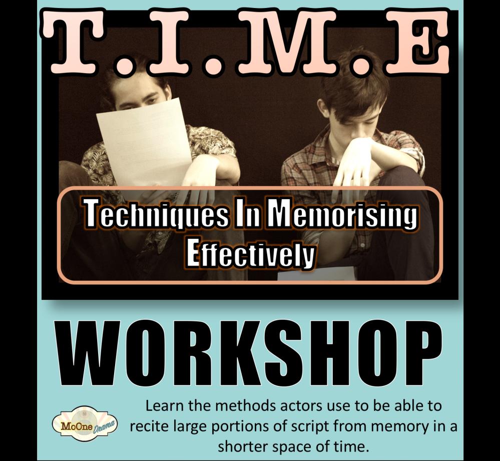 T.I.M.E Techniques In Memorising Effectively age 20+