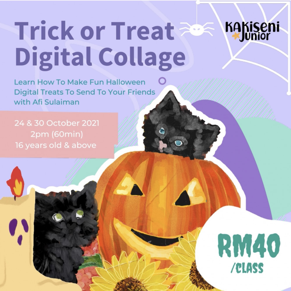 Trick or Treat Digital Collage with Afi Sulaiman