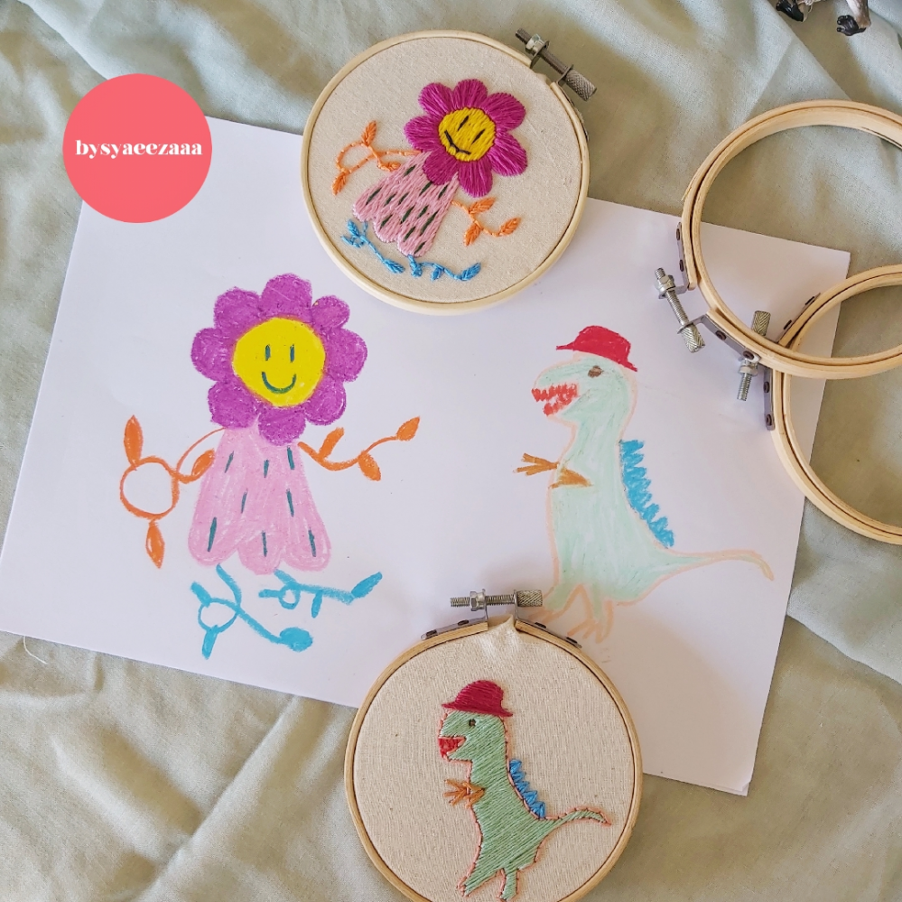 Bring Your Drawing to Life with Modern Embroidery