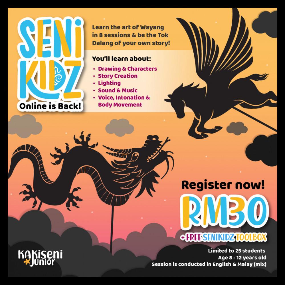 SeniKidZ Online: Learn The Art of Wayang in 8 Weeks!